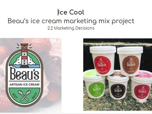2.2 Marketing Mix Ice Cream Project