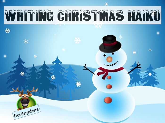 Christmas - PowerPoint Lesson - Writing Fantastic Seasonal  Haiku Poems