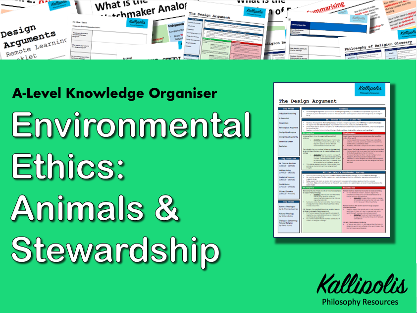 Environmental Ethics - Animals & Stewardship - Knowledge Organiser