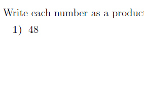 Prime factors of an integer using division worksheet  (with solutions)