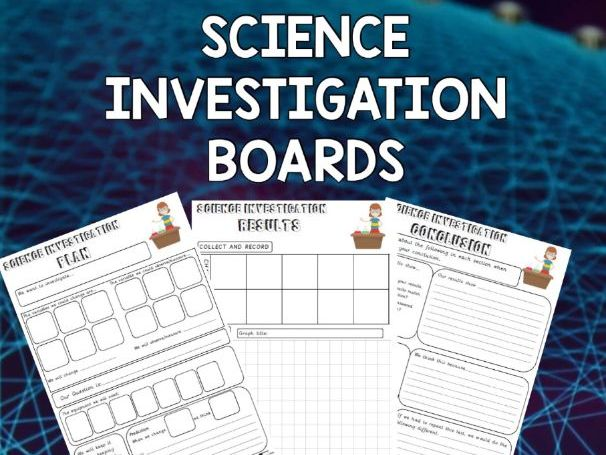 Science Investigation Boards