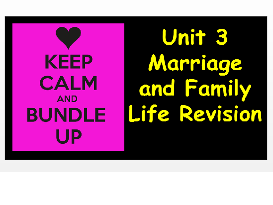 Edexcel Christianity Marriage and Family Life Unit 3