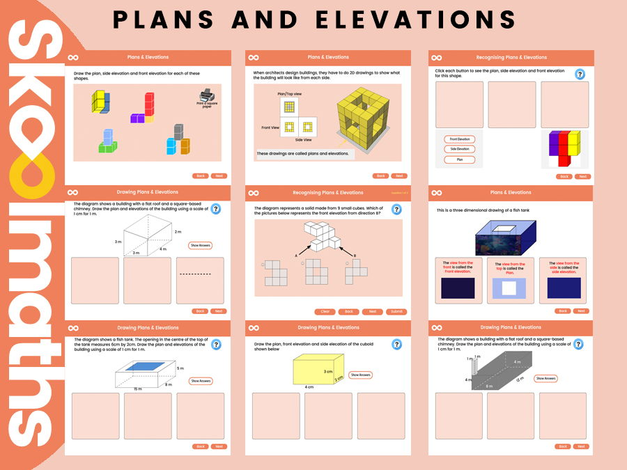 Plans & Elevations - Year 8, Key stage 3