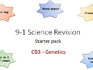 B3 Genetics Revision starter pack Science 9-1