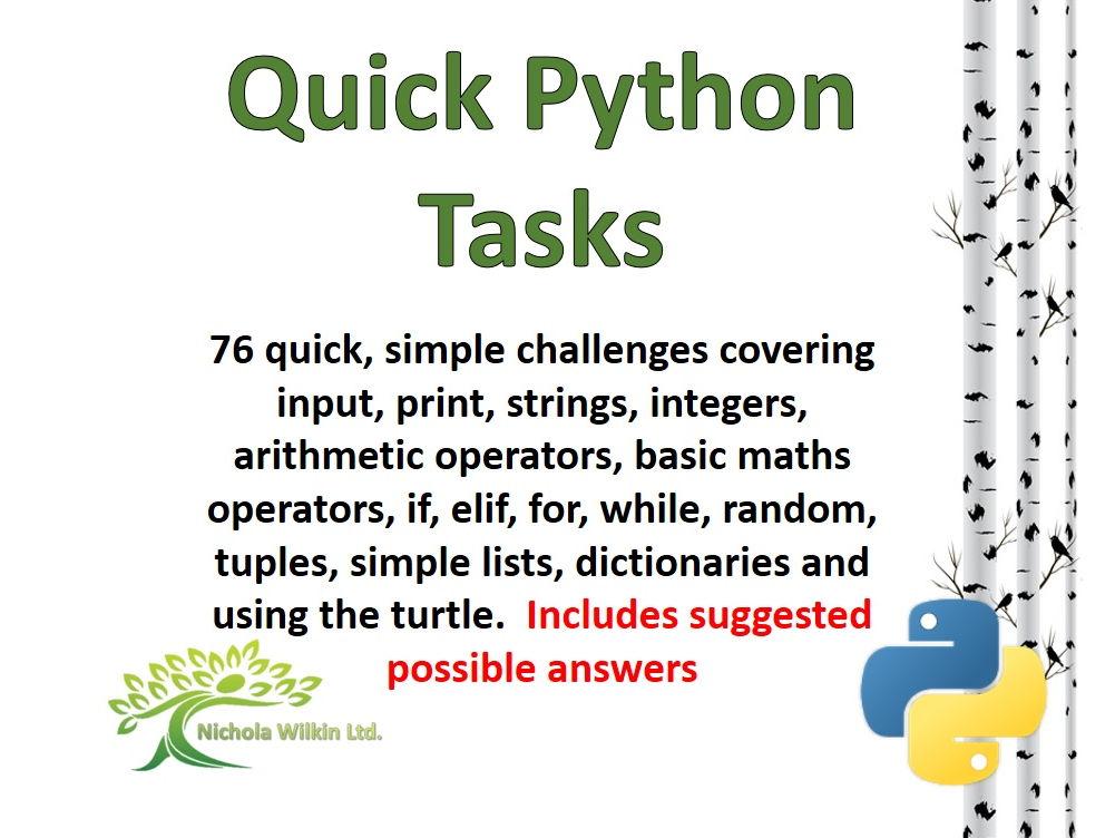 76 Quick Python Programming Challenges