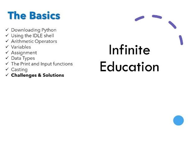 Basic Python  - Including challenges and solutions