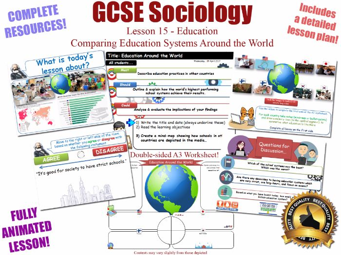 Education Around the World - Sociology of Education L15/20 [ WJEC EDUQAS GCSE Sociology ] KS4