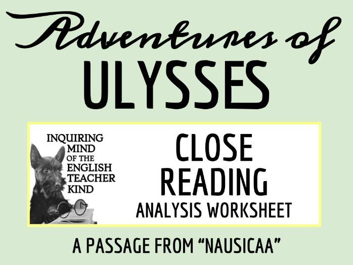 Adventures of Ulysses Close Reading Worksheet - Nausicaa