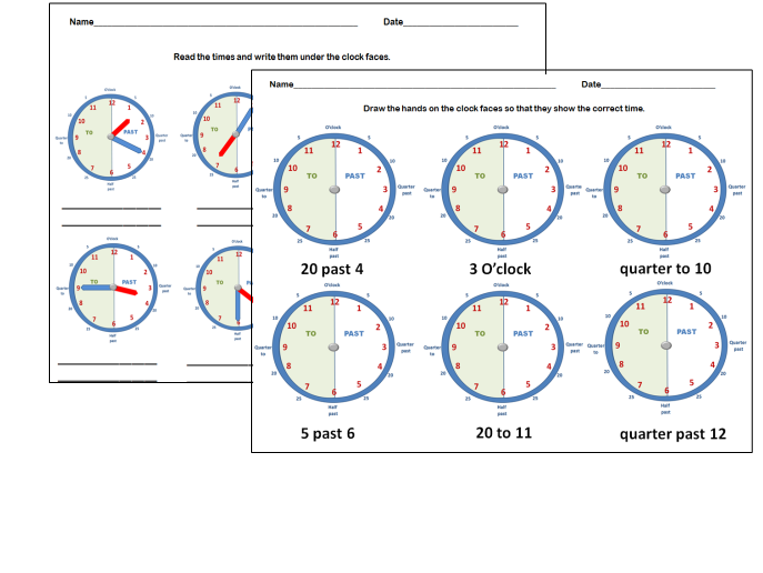 Telling the Time worksheets: Teaching Clock Images by jodyo ...