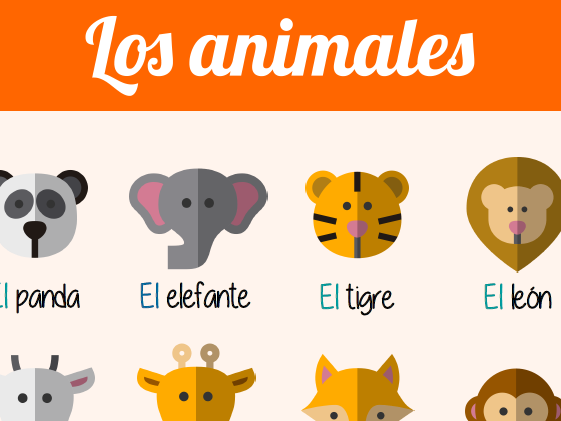 Poster - Spanish - Los animales