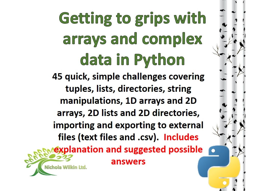 Getting to grips with arrays and complex data in Python