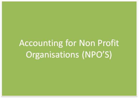 Accounting For Non-Profit Organizations