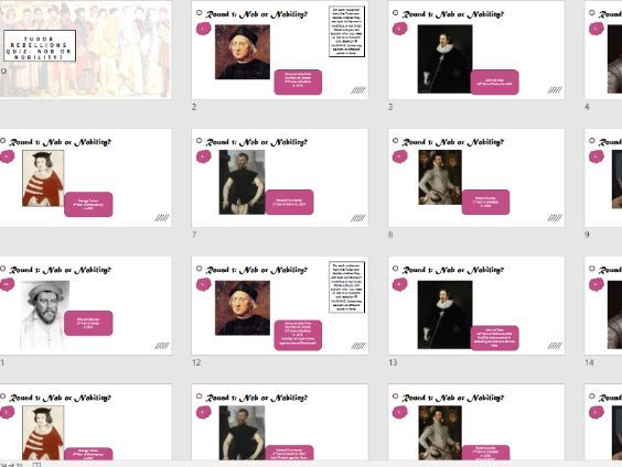 Tudor Rebellions Revision