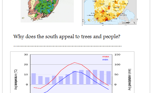 Geography of Finland Lesson (powerpoint and worksheet)
