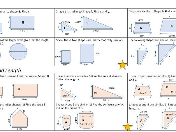 Area And Volume Scale Factor Worksheet Non Calc By Jsuffolk