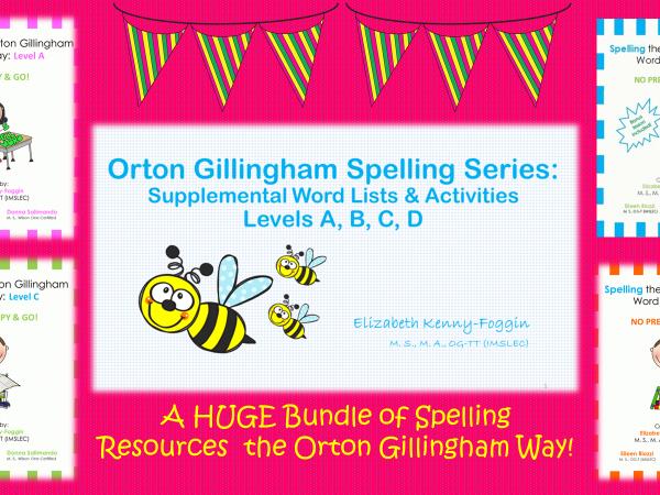 Orton Gillingham Spelling Series: Supplemental Word Lists & Activities