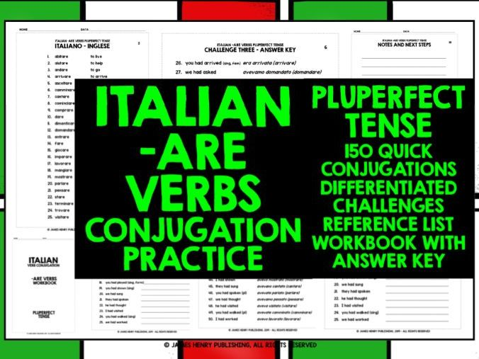 ITALIAN -ARE VERBS CONJUGATION #6