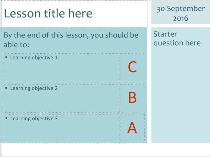 Teaching template (PowerPoint & Keynote)