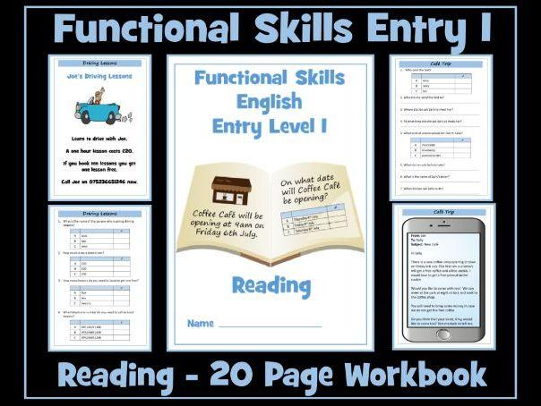 English Functional Skills Entry Level 1 Reading Workbook
