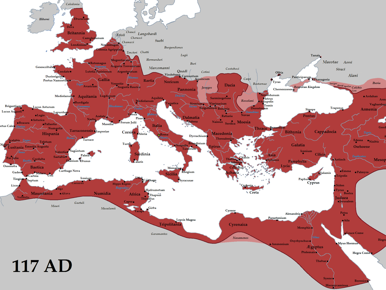 The Growth of the Roman Empire.