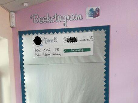 Bookstagram Working Wall Display Year 5