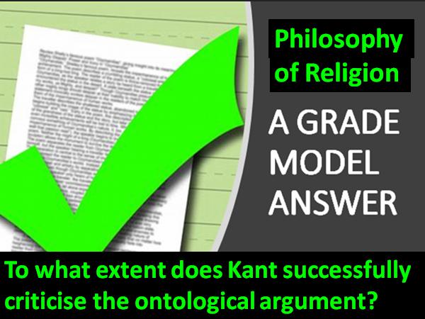 OCR Ontological Argument. Model Answer