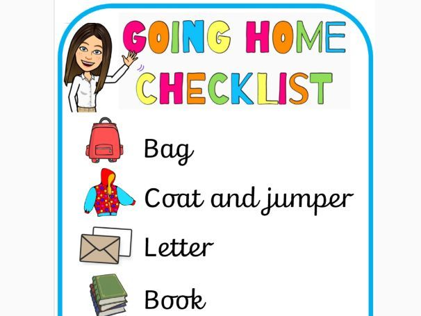 Going Home Checklist