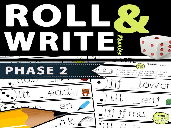 Phase 2 Phonics Handwriting Dice Game