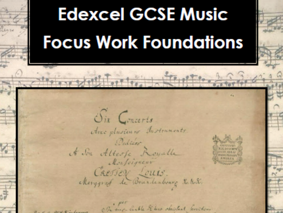 Edexcel GCSE music Area of Study 1 focus work foundations