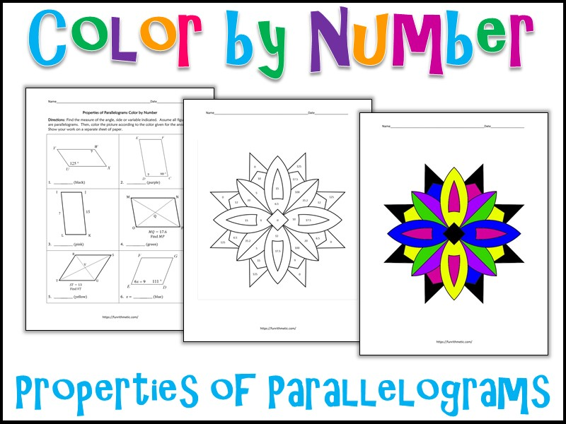 Properties Of Parallelograms Color By Number By Charlotte James615