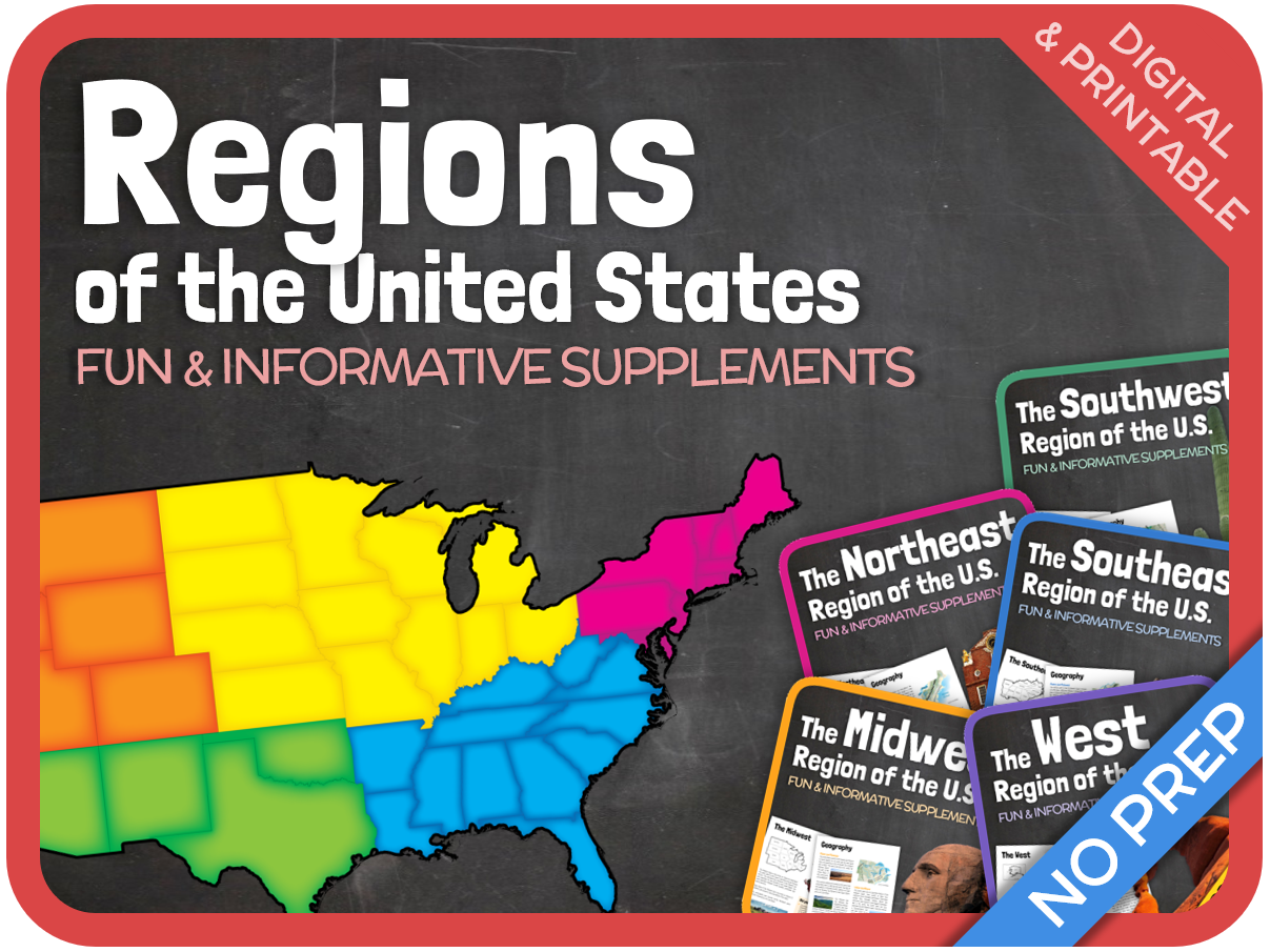 Five Regions of the United States (Bundle)
