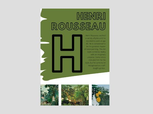 Artist A to Z | H | Henri Rousseau | Imagination Jungle | Nature Observational Drawing
