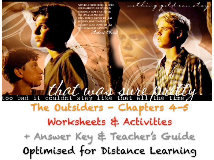The Outsiders (S. E. Hinton) - Ch. 4-5 - Motifs - NO PREP ACTIVITIES + ANSWERS