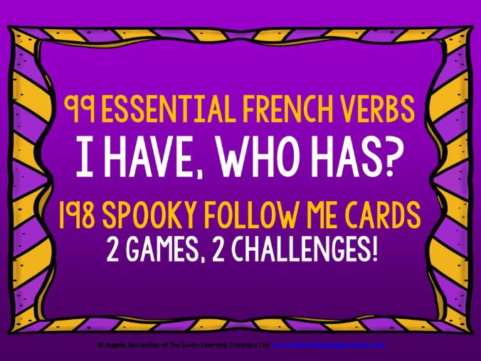 FRENCH VERBS HALLOWEEN GAMES FOLLOW ME I HAVE, WHO HAS?