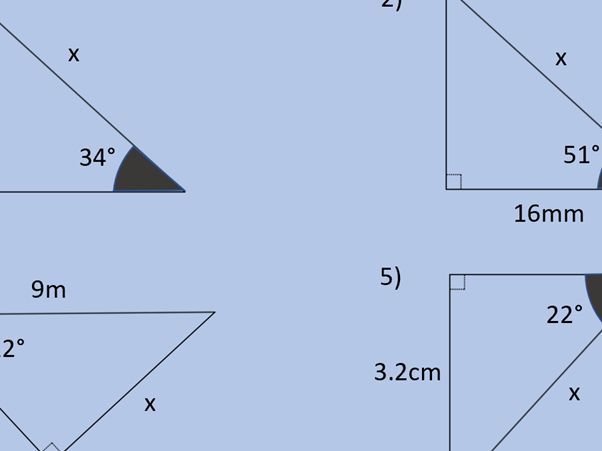 Trigonometry with Right-angled Triangles