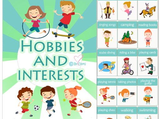 hobbies and interests by olynj teaching resources tes