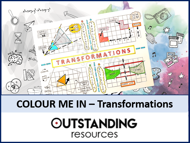 Colour Me In Sheets or Doodle Notes - Transformations