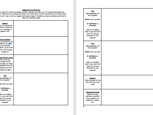 Oral Presentations Booklet for Junior Secondary – Print and Hand Out