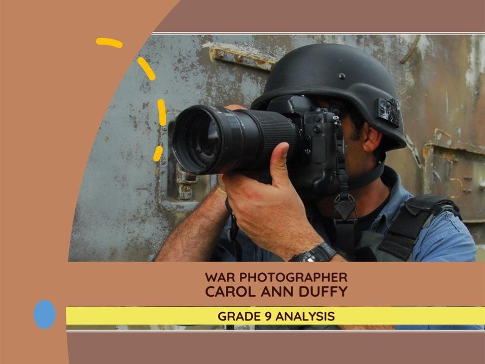 War Photographer – Grade 9 quotation analysis & model answers