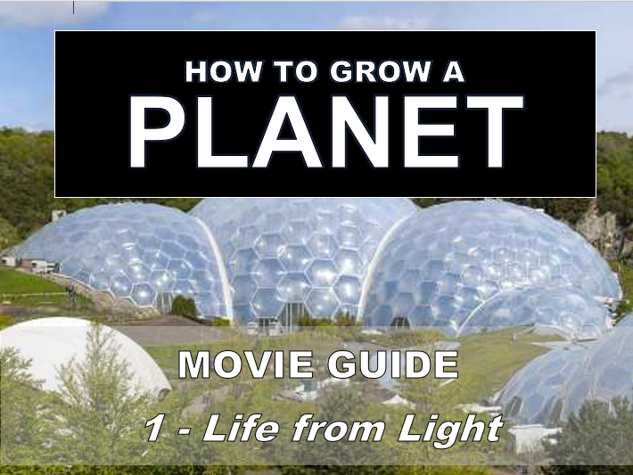 How to Grow a Planet: FROM LIGHT TO LIFE (Video Sheet)