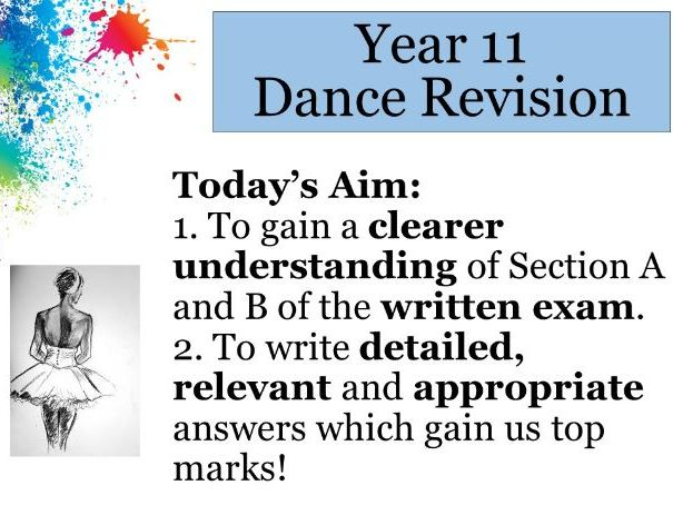 GCSE Dance Revision - All three sections.