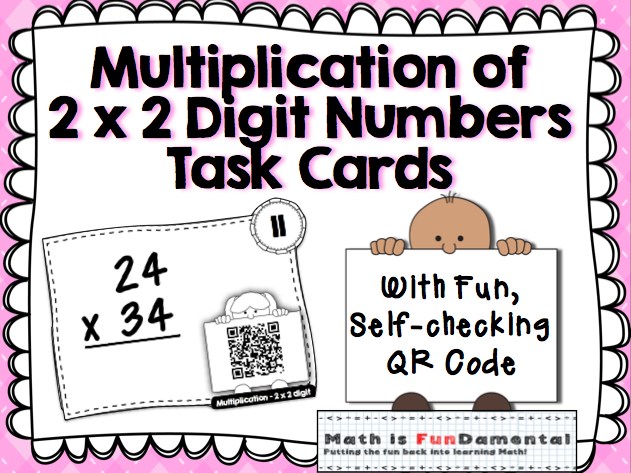Multiplication of 2 x 2 Digit Numbers with Self-checking QR Code