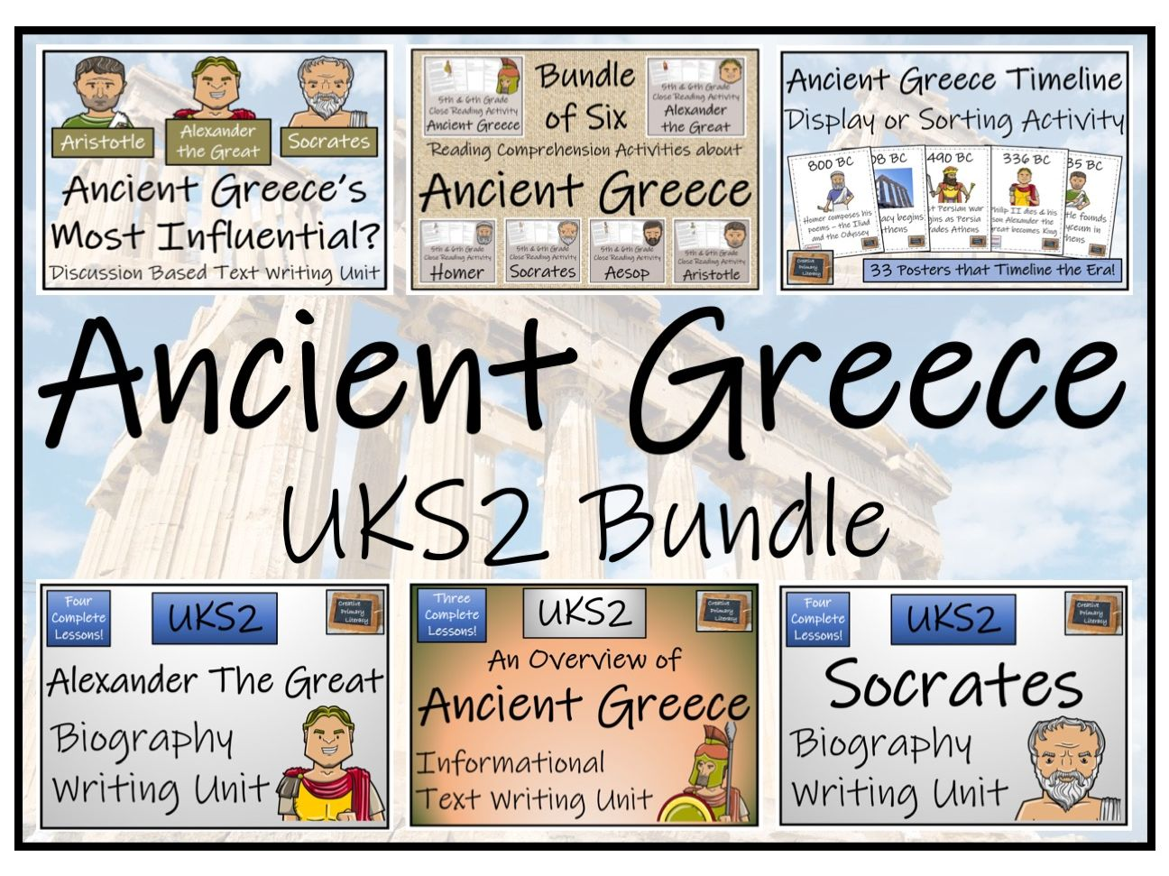 UKS2 History - Ancient Greece Display, Reading Comprehension & Writing Mega Bundle