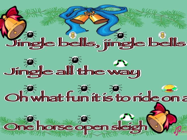 Jingle Bells rhythmic poster