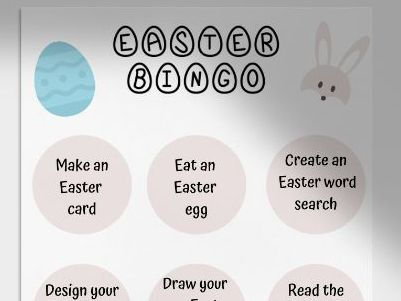 Easter Activity Bingo
