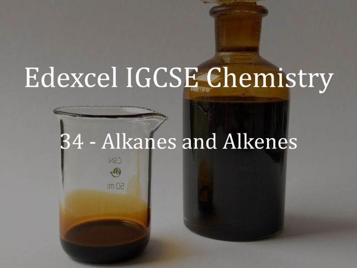 Edexcel IGCSE Chemistry Lecture 34 - Alkanes and Alkenes