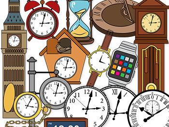 Clocks clip art-The History of clocks Clip art