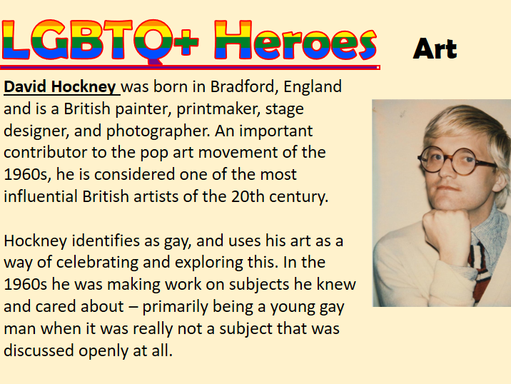 60+ LGBTQ Hero Profiles for Pride Month Displays