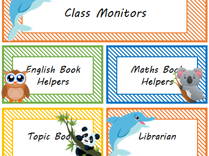 Animal themed classroom resources