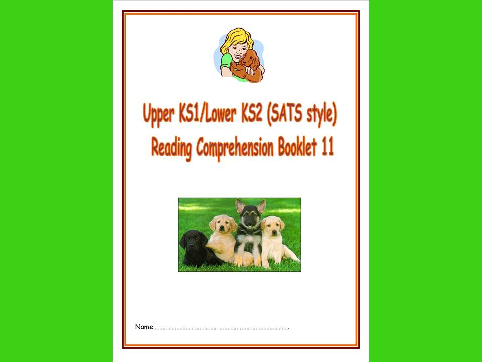 KS1/LKS2 SATs style reading comprehension booklet based on Dogs.